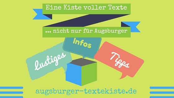 Neue Texte für Augsburg