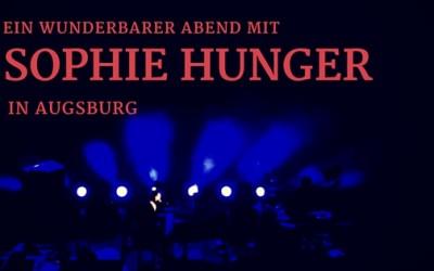 Sophie Hunger Augsburg
