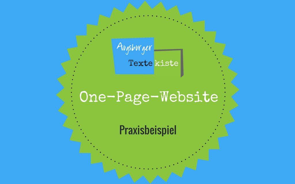 One-Page-Website für Buchmarketing: Praxisbeispiel
