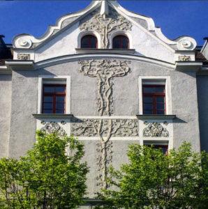 Fassade im Bismarckviertel (Sehenswürdigkeiten in Augsburg Top 6)
