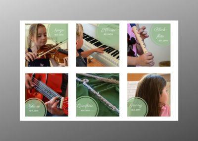 Icons für Unterrichtsangebot Musikschule