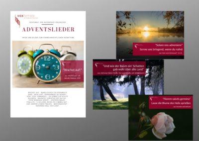 Konzertwerbung Adventskonzert Magazin